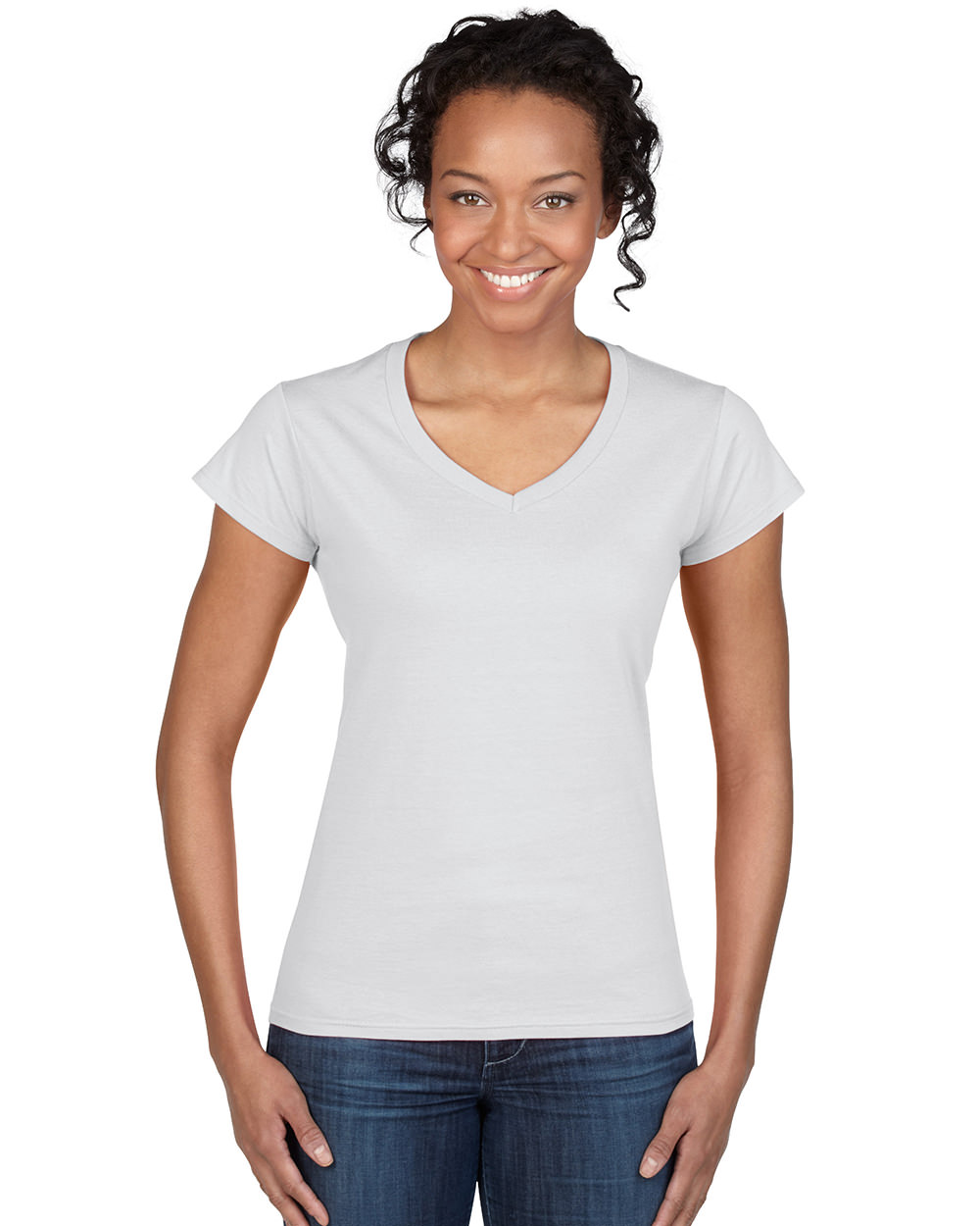 339fdc370fc7 Διαφημιστική γυναικεία μακό κοντομάνικη μπλούζα με V λαιμόκοψη ...