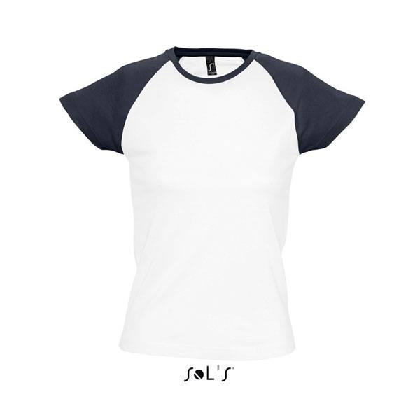 Γυναικεία διαφημιστικά δίχρωμα μπλουζάκια υπάρχει η δυνατότητα να είναι  τυπωμένα η κεντημένα με στάμπα το λογότυπο και τα στοιχεία σας 223edd83aa8
