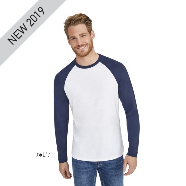 57123ed109ea Διαφημιστική μακρυμάνικη ανδρική μπλούζα υπάρχει η δυνατότητα να είναι  τυπωμένη με στάμπα με το λογότυπο και ...