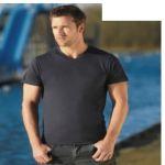 Διαφημιστικά μπλουζάκια ανδρικά μακό με V  υπάρχει η δυνατότητα να είναι τυπωμένα με στάμπα τα στοιχεία και το λογότυπο σας
