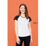 Γυναικεία διαφημιστικά μπλουζάκια δίχρωμα  υπάρχει η δυνατότητα να είναι τυπωμένα η κεντημένα με στάμπα το λογότυπο και τα στοιχεία σας