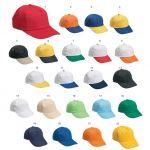 Διαφημιστικά καπέλα 100% βαμβάκι πέντε φύλλων με velcro. Υπάρχει η δυνατότητα να είναι τυπωμένα η ραμμένα με το λογότυπο και τα στοιχεία σας