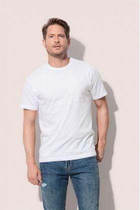 Ανδρική διαφημιστική μπλούζα σε φαρδιά γραμμή. Υπάρχει η δυνατότητα να είναι τυπωμένο με στάμπα η ραμμένο με κέντημα το λογότυπο και τα στοιχεία σας