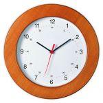 Διαφημιστικό ρολόι τοίχου από ξύλο καρυδιάς υπάρχει η δυνατότητα να είναι τυπωμένο με στάμπα το λογότυπο και τα στοιχεία σας