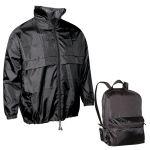 Διαφημιστική τσάντα που γίνετε αντιανεμικό μπουφάν,υπάρχει η δυνατότητα να είναι τυπωμένο με στάμπα το λογότυπο και τα στοιχεία σας