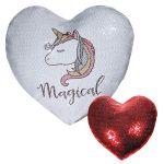 Διαφημιστική μαξιλαροθήκη με πούλιες σε σχήμα καρδιάς διπλής όψης. Υπάρχει η δυνατότητα να είναι τυπωμένη με το λογότυπο και τα στοιχεία σας
