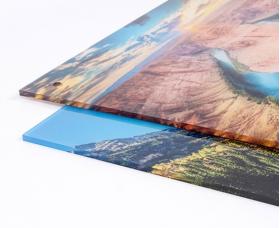 Απευθείας εκτύπωση σε διάφανο Plexiglass πάχους 3mm. Η τιμή περιλαμβάνει το Plexiglass.